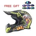 Мотоциклетный шлем крест шлем DOT утвержден каждый всадник доступным шлем ATV Dirtbke бездорожью мотокросс шлем бесплатно очки