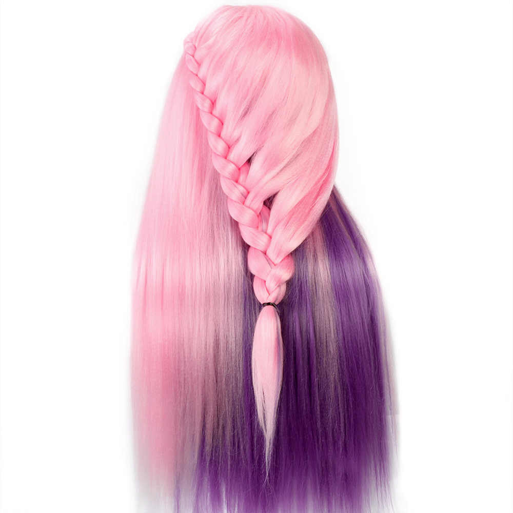 Colorful Pink Hair Training Mannequin Head for Hairstyles Hairdressing  Salon Design Doll Manikin Wig Heads With Hair Acessorries