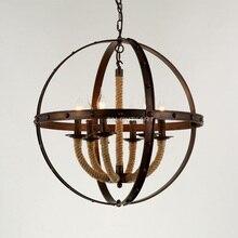 110v 220v Loft Iron Rope Pendant Lamp Lampara Hanglamp Lamparas De Techo Luminarias De Interior Luminaire Industriel Velas 25