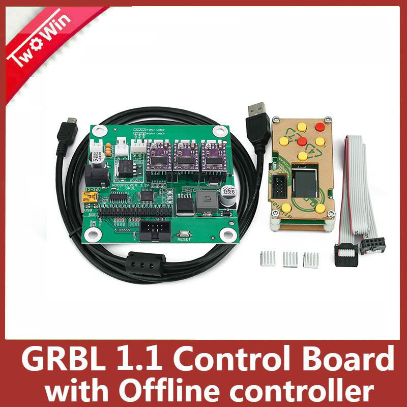 3 Axis GRBL 0.9J USB Port CNC Engraving Machine Control Board Engraver Milling Laser Machine Controller board