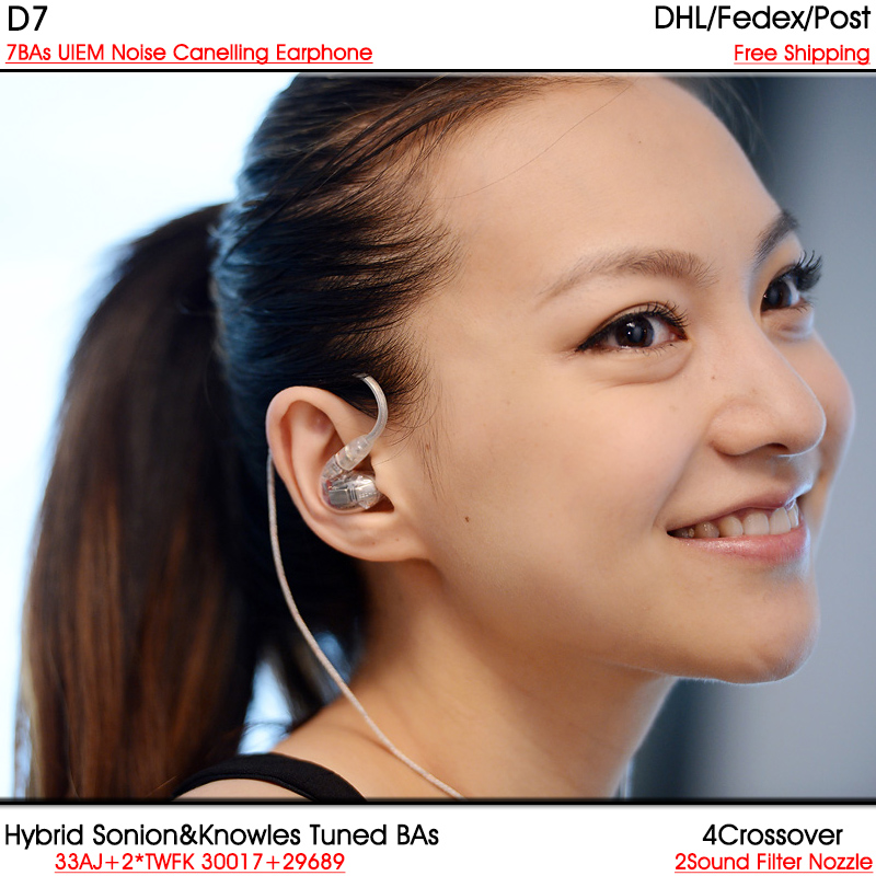 D7 Knowles Sonion7 14Units Balanced Armature BA Drivers In-Ear UIEMs SE846 SE535 Hifi Custom Earphone DHL FEDEX free shipping