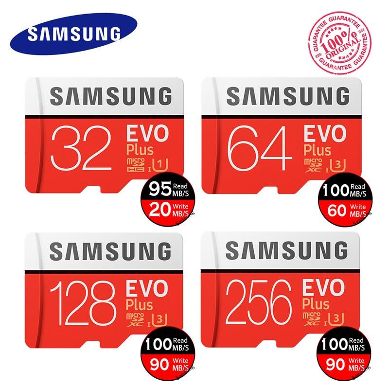 Original SAMSUNG Micro SD Memory Card EVO+ Plus 32GB Class10 waterproof TFFlash Memoria Card C10 SDHC/SDXCUHS-1 For Smart phones samsung u3 4k memory card 128gb evo 100m s micro sd card class10 uhs 1 flash card memory cards microsd for tablet smartphone