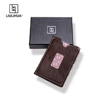 LLHรุ่นใหม่3ผู้ถือบัตรกระเป๋าสตางค์พับสร้างสรรค์กระเป๋าสะดวกกระเป๋าสตางค์ของมนุษย์