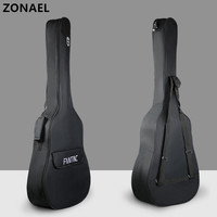 ZONAEL 36 39 41 Inch Waterproof Folk Guitar Bag Pad Cotton Thickening Backpack Double Straps Soft