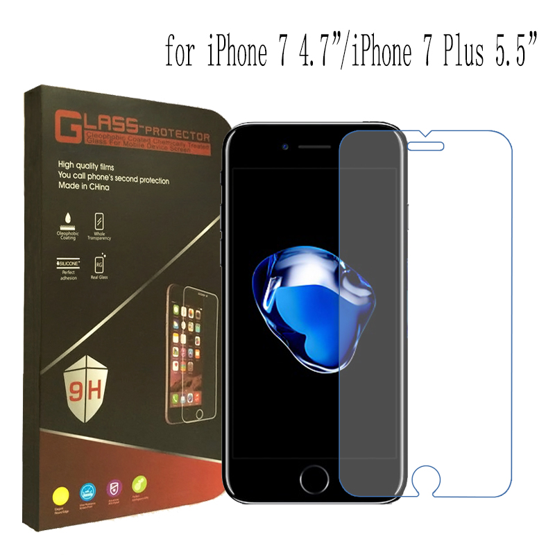 High quality For iPhone 6 Tempered Glass Screen Protector For iPhone 6s 7 Plus Screen Protector Film SE With Retail Package