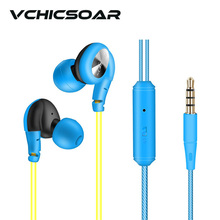 2017 New Fashion Sports Earphones 3.5mm Wired Headphones with Microphone HiFi Stereo Headsets 3 Candy Colorful fone de ouvido