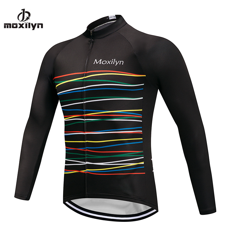 Team Bicycle Clothes Mens Cycling Jersey Tights MOXILYN Long Sleeve Bike Clothing Quick Drying Riding Ropa Ciclismo