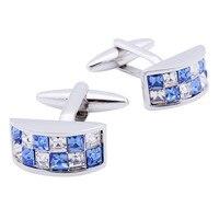 Hawson colorido cristal gemelos para hombres camisa blanca vestido de novia con la caja
