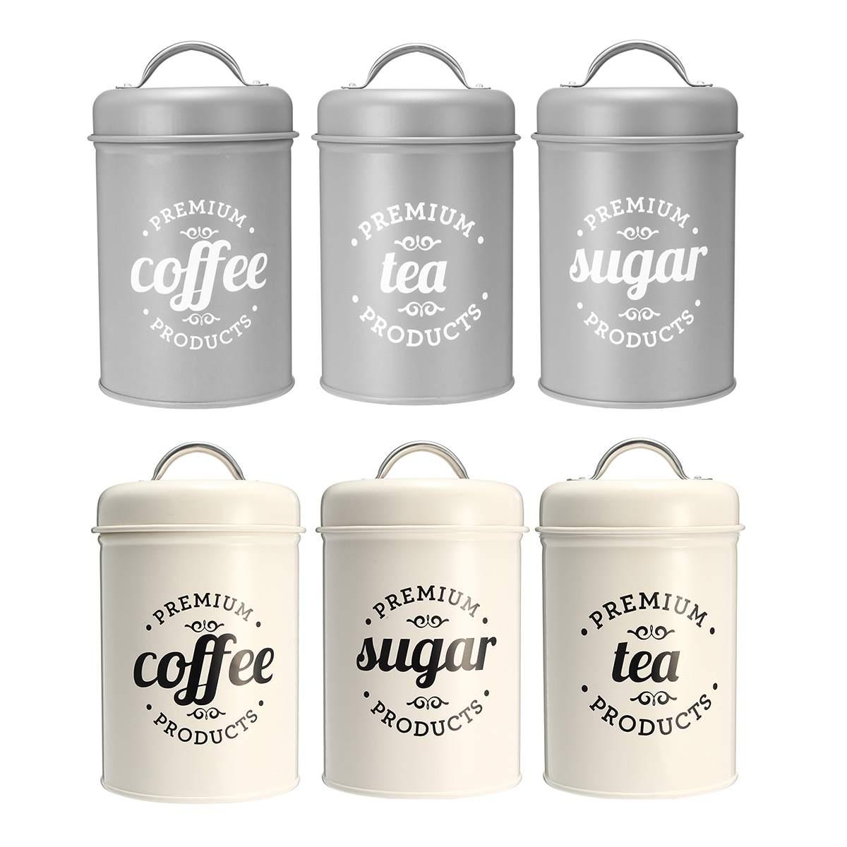 Storage Box Tea Sugar Coffee Canister