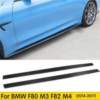 For M3 M4 Carbon Fiber Side Skirts Apron Lip for BMW F80 M3 Sedan F82 F83 M4 Coupe 2012 2017 Styling Side Skirts