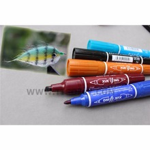 Tigofly 12 Colors Fly Tying Double Head Permanent Waterproof Marker Pen Set Saltwater Fly Fishing Drawing Fly Tying Materials