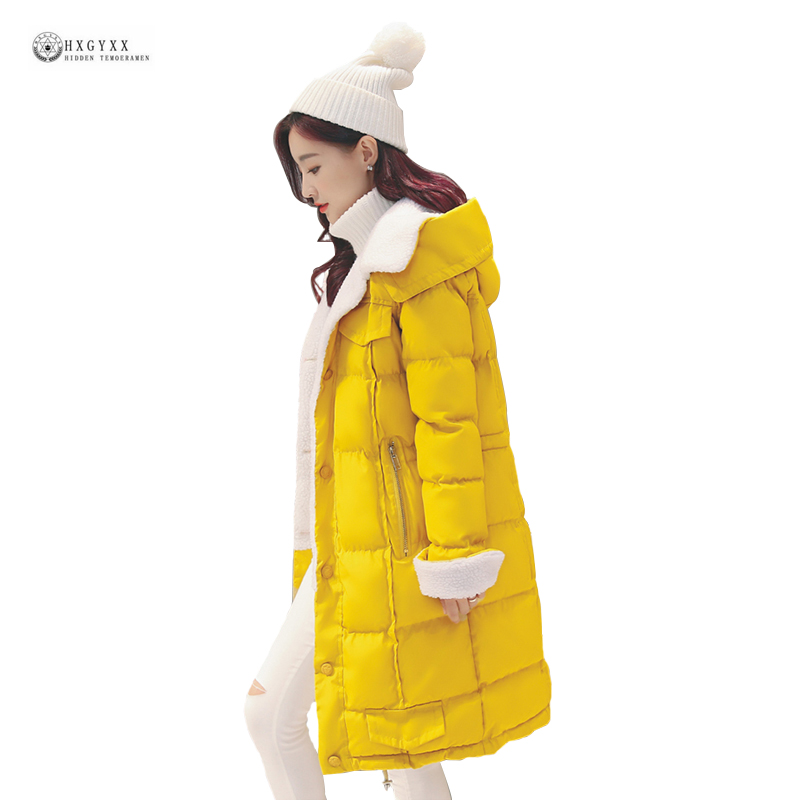 2017 New Women Winter Coat Cashmere Cotton Jacket Pure Color Wide-waisted Long Female Outerwear Hooded Thick Warm Parka OK1010 3 colors l 2xl 2015 new women winter down cotton padded coat female long hooded wide waisted jacket zipper outerwear zs247