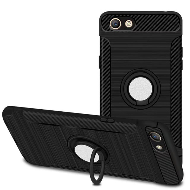 Anti-knock Soft Silicone TPU Back Cover Cases For OPPO A33 A33m A33t A33F ( Neo 7 ) Mobile Phone Case With Ring Bracket