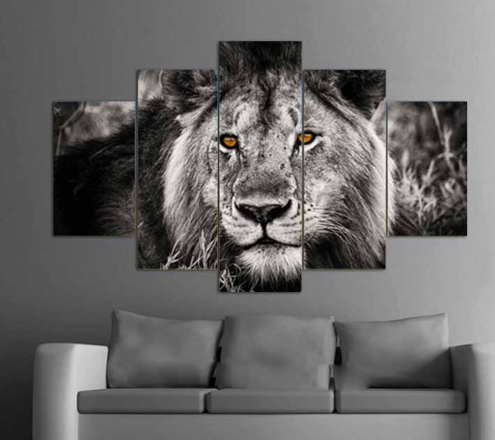Free Shipping 5 Panels HD Print On Canvas Oil Painting