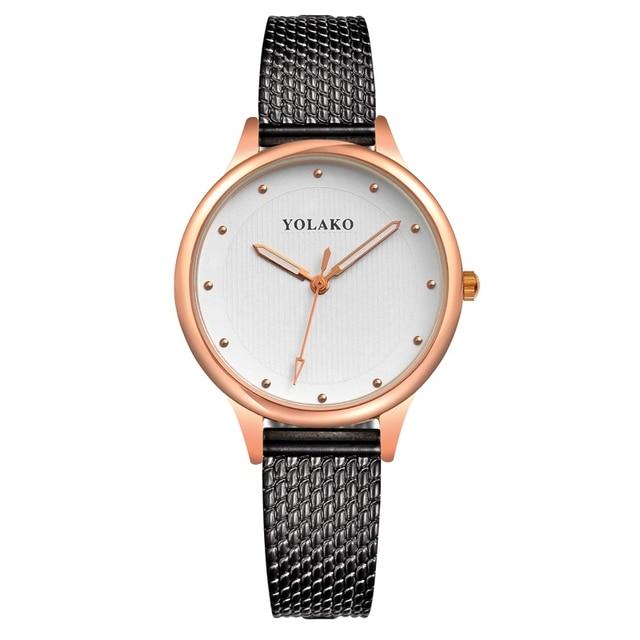 c93e230efeed Las mujeres relojes de moda reloj de cuero Simple de la personalidad de las mujeres  pulsera