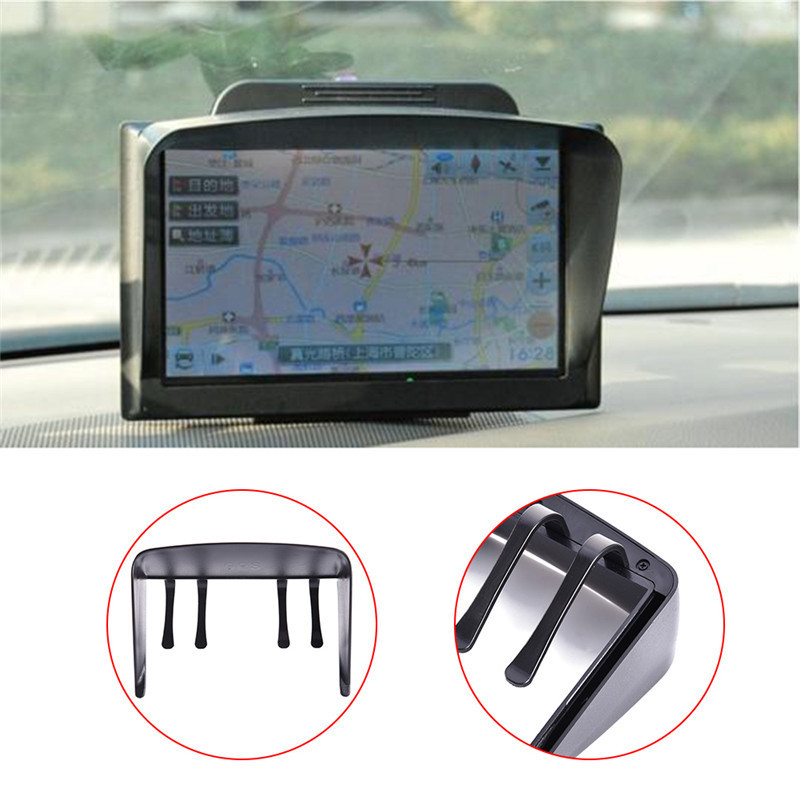 1PC Black Universal 6/7 inch Car Accessories Sunshade Sunshine Shield For GPS Screen Visor Hood GPS Navigator holder