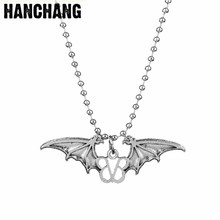 Hip Hop Rock Band Necklace Angel Wings Veil Brides BVB Logo Bead Chain Jewelry For Women Men Christmas Gift