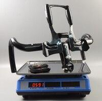 Wacako Full Carbon Fiber Road Bicycle Integrated 3K Handlebar With 28 6mm Stem Carbon Road Handlebar