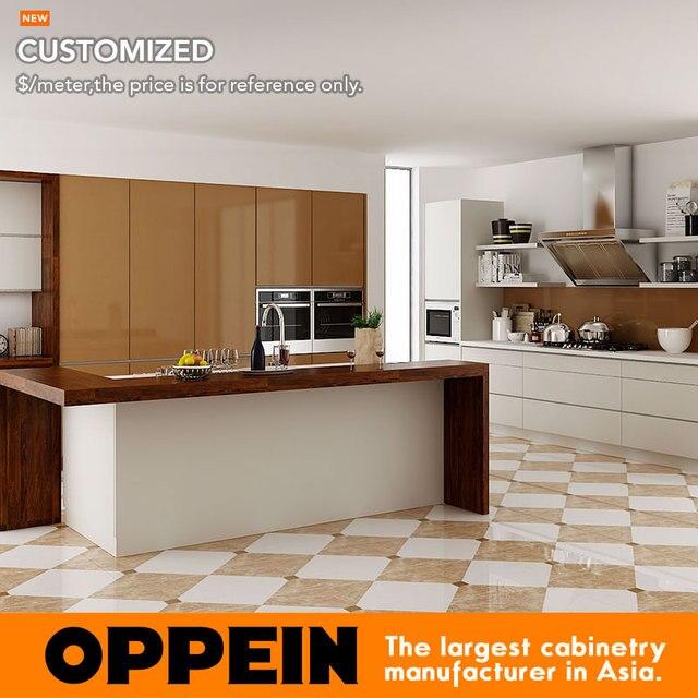 Elegante Modulare Weiß Lackiert Küchenschränke Innen Küche ...