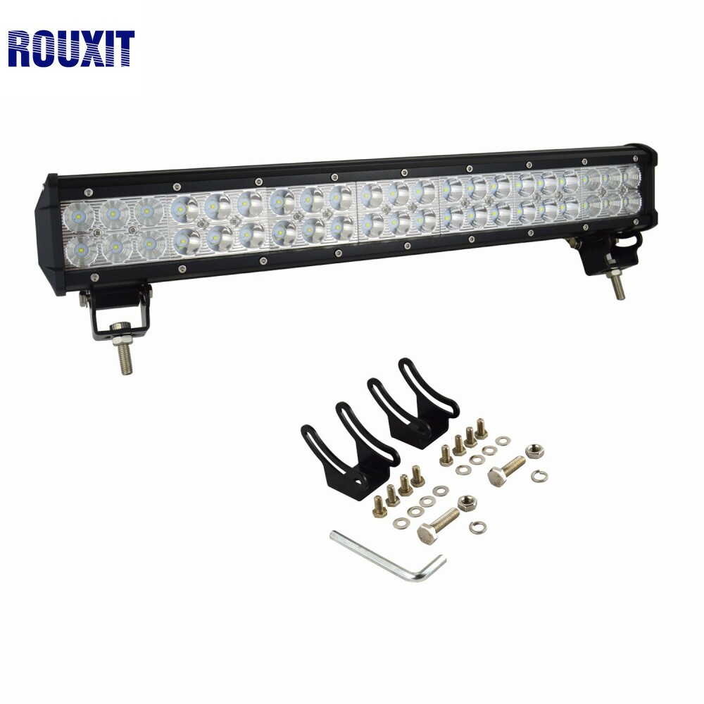 20 pouces 126 W lumière LED Bar Offroad 12 V 4X4 camions tracteur ATV 126 W lampes de travail LED Bar pour voiture lumière LED Bar hors route