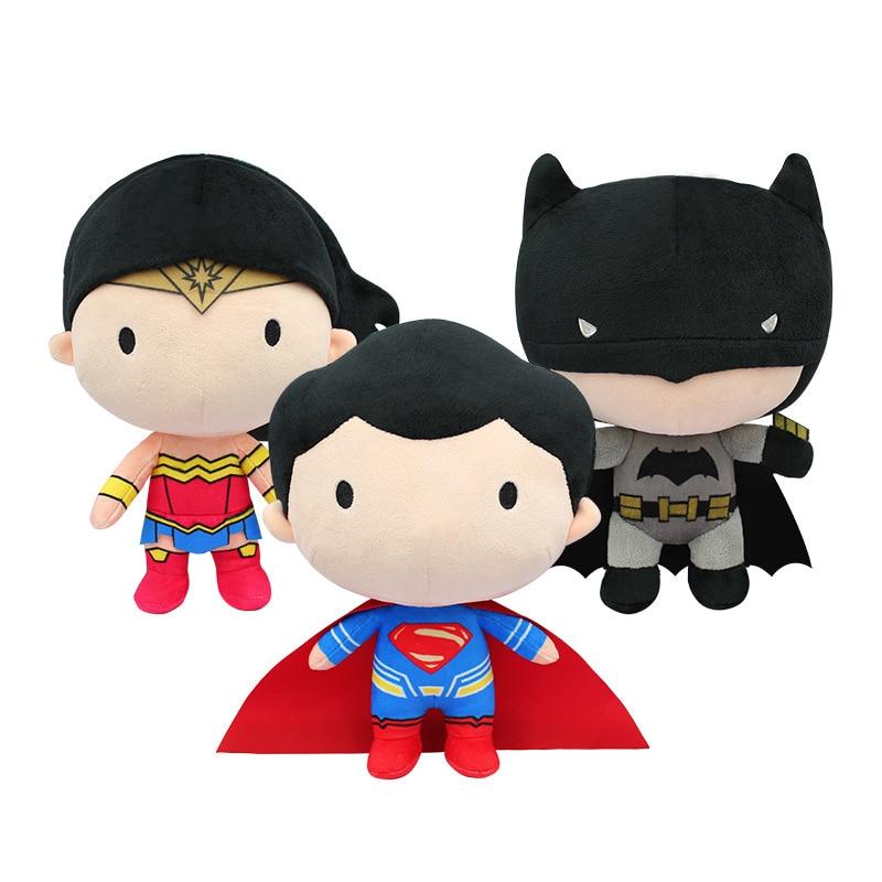 20cm High Quality Cute Stuffed Toys The Avengers Super Heros Plush Toys Wonder Woman Batman Superman Doll Gifts For Children Toy