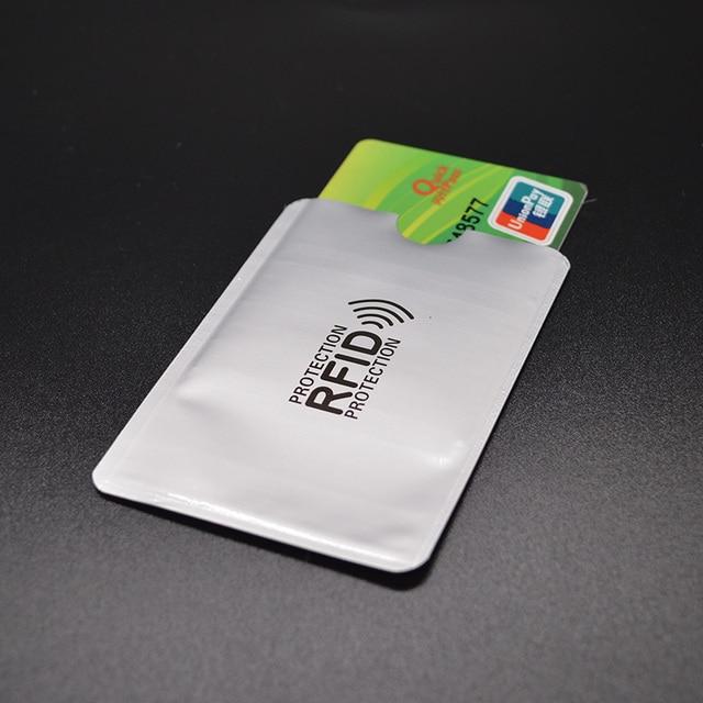 Aluminium Foil Irf Carte De Crédit Titulaire Métal En Aluminium - Porte cartes sécurisé protection rfid nfc