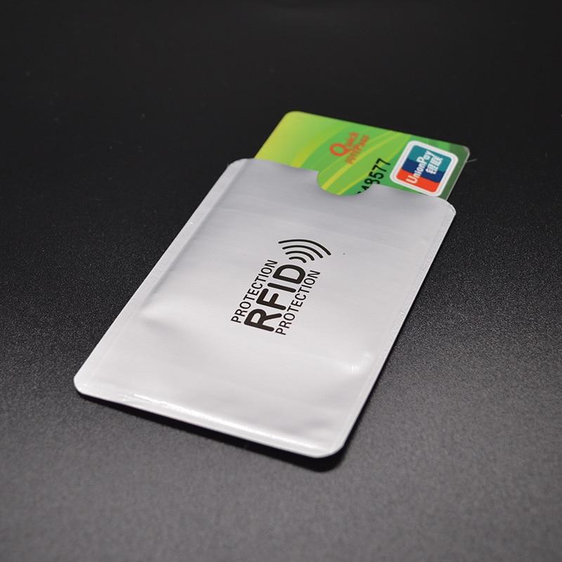 Aluminium Foil Rfid Blocking Credit Card Holder Metal Aluminium Wallet for Credit Cards Anti Rfid Card Protector Antitheft Cover 1pcs anti rfid blocking credit card holder porte carte covers for credit cards id bank card case card holder identity badge h039