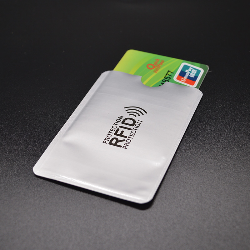 Aluminum Anti Rfid Reader Blocking Bank Credit Card Holder Protection New Rfid Card Reader Metal Credit Card Holder Rfid