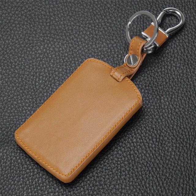 jingyuqin Remote 4 B Leather Key Case Cover For Renault Koleos Laguna 2 3 Megane 1 2 3 Sandero Scenic Captur Clio Duster Fluence