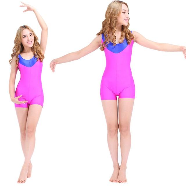 9983079de2 Women Leotards Unitards Swimsuit One piece Swim Suit Professional Swimwear  Lady Colorful Unitard