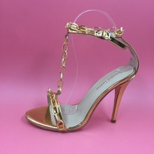 Gold Chain T Strap Women Sandals font b Shoes b font Woman Sandals Women font b