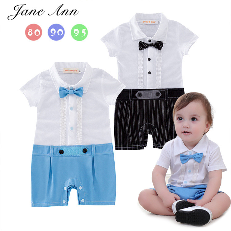 Baby boys summer clothes infant toddler short sleeve bow tie romper gentleman jumpsuit baby boy clothing kids costume baby clothing summer infant newborn baby romper short sleeve girl boys jumpsuit new born baby clothes