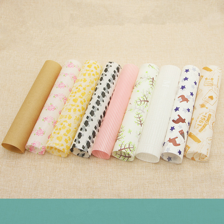 buy 22 x 25cm free shipping 100 pcs set wax paper food wrapping paper. Black Bedroom Furniture Sets. Home Design Ideas