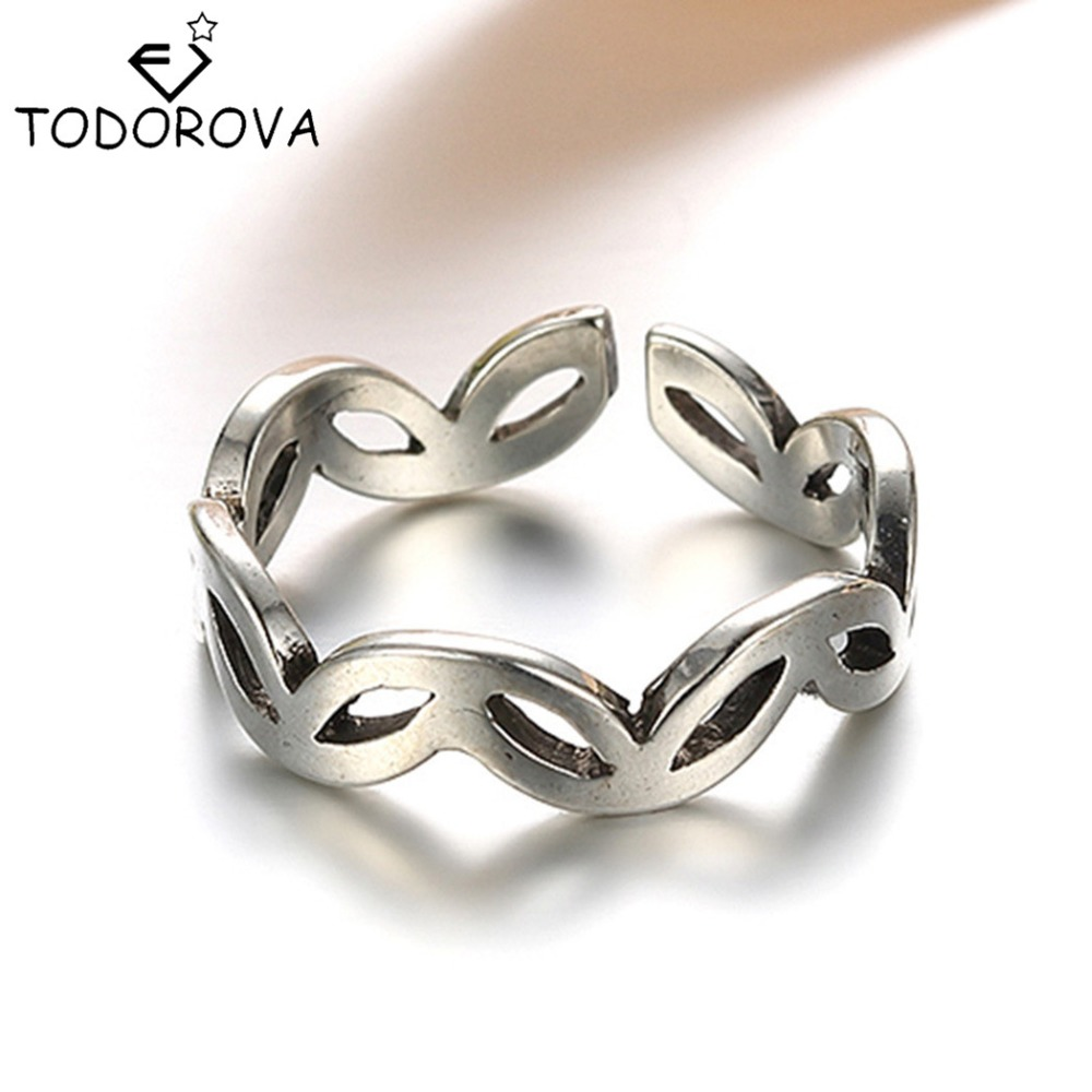 Todorova Real Pure 925 Sterling Silver Knuckle Ring Vintage Antique  Engagement Jewelry Men Finger Ring Wedding Band Big Discount