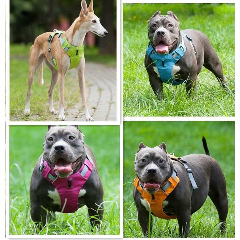 Baru Reflektif Harness Anjing Hewan Peliharaan Anjing Pelatihan Rompi untuk Menengah Besar Anjing Yang Dapat Profesional Harness Keselamatan Kendaraan Di Luar Ruangan