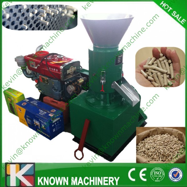 Free Shipping Supply The KN-D-250A Diesel Type Of Wood Pellet Machine / Wood Pelletizer / Pellets Making Machine