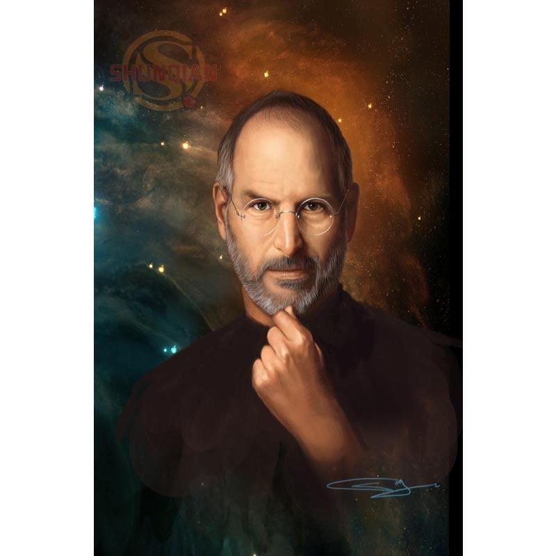 New Steve Jobs Poster Custom Satin Poster Print Cloth Fabric Wall ...