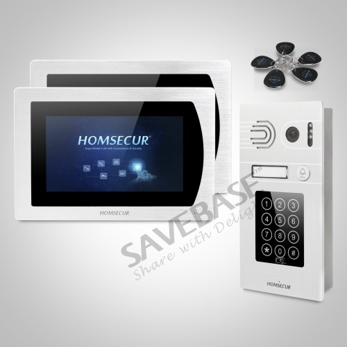 HOMSECUR 7 Video Door Entry Phone Call System+Intra-monitor Audio Intercom