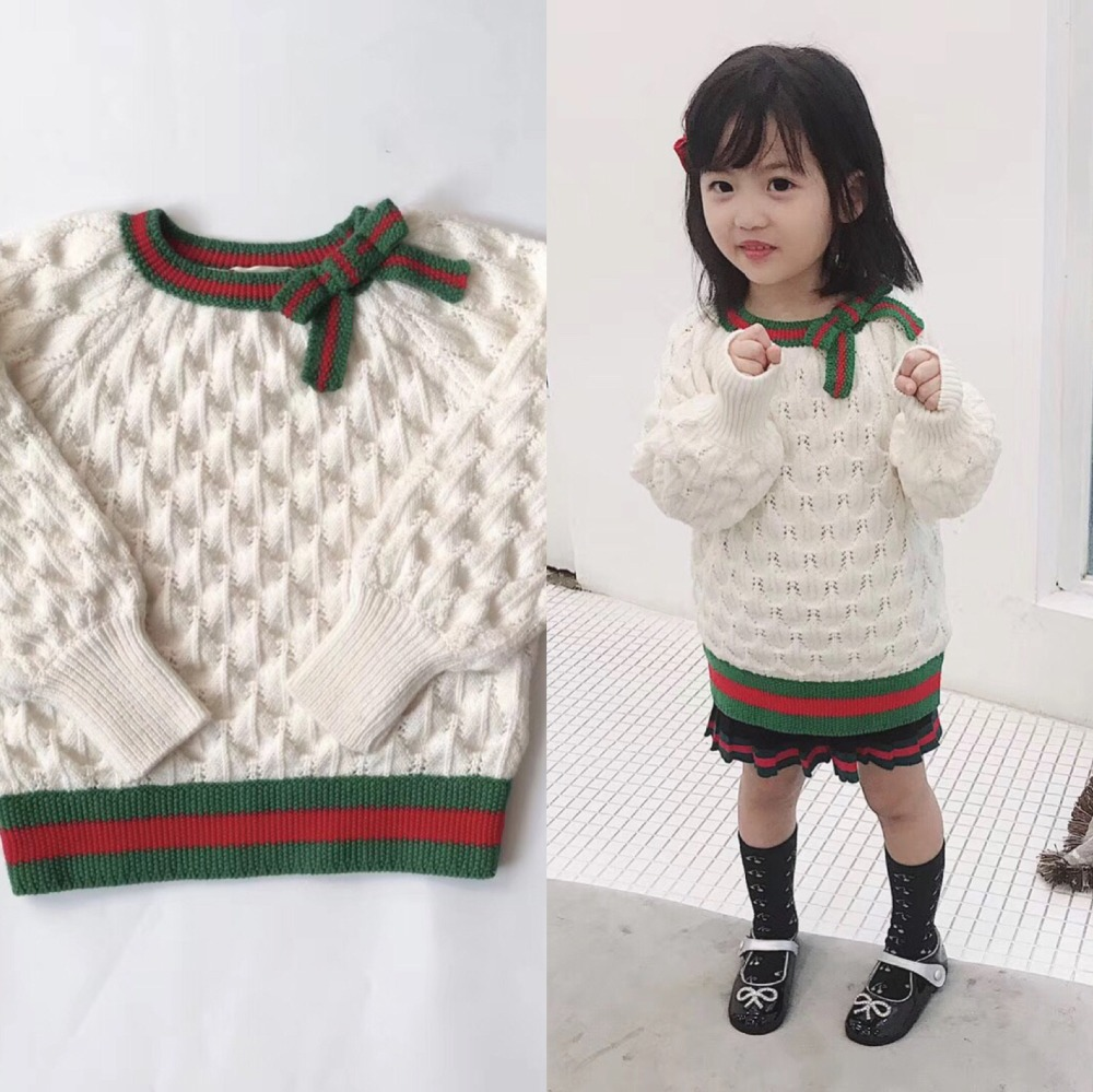 Girls Pullover Wool Sweater Thick Warm Tops Kids Ribbed Sweater 100% Merino Wool Girls Knitted Sweater