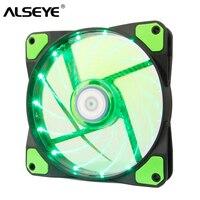 ALSEYE PC Kühler Computer Fall Fan Grüne LED 120mm Fan Kühlung 12 v 1300 rpm 3 4pin kühler für cpu farbe rot blau und grün-in Lüfter & Kühlung aus Computer und Büro bei