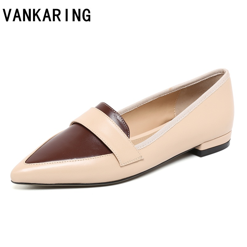 fashion women shoes woman flats high quality genuine leather flats casual shoes pointed toe rubber women flat shoes ballet shoes диск обрезиненный d26мм mb barbell mb pltb26 20кг черный