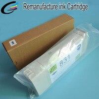 Recyclage Cartouche D'encre pour HP 831 Remise À Neuf Cartouche avec Date Compatible Puces et Encres Latex