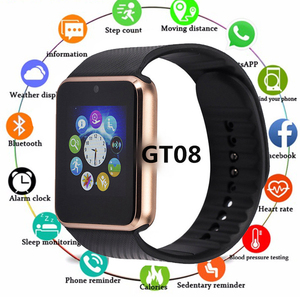 Bluetooth GT08 Smart Watch Pho