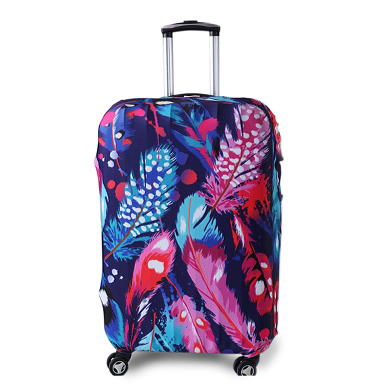 TRIPNUO Colored Feathers Thicker Luggages Protective Cover for 18-32 Inch Trolley Cases Waterproof Elastic Suitcases Covers