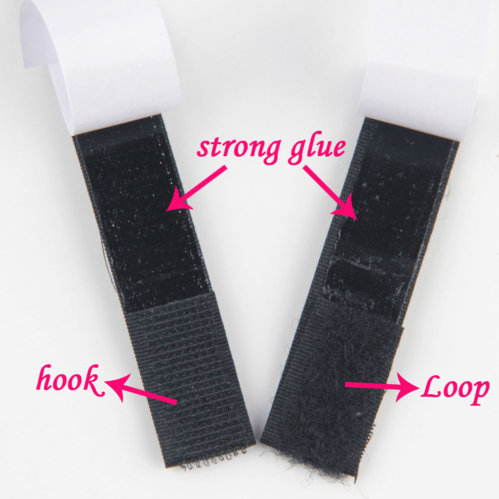New 100/% Nylon White//Black 20mm 25mm 38mm 50mm Sew On Hook/&Loop Fastener Tape