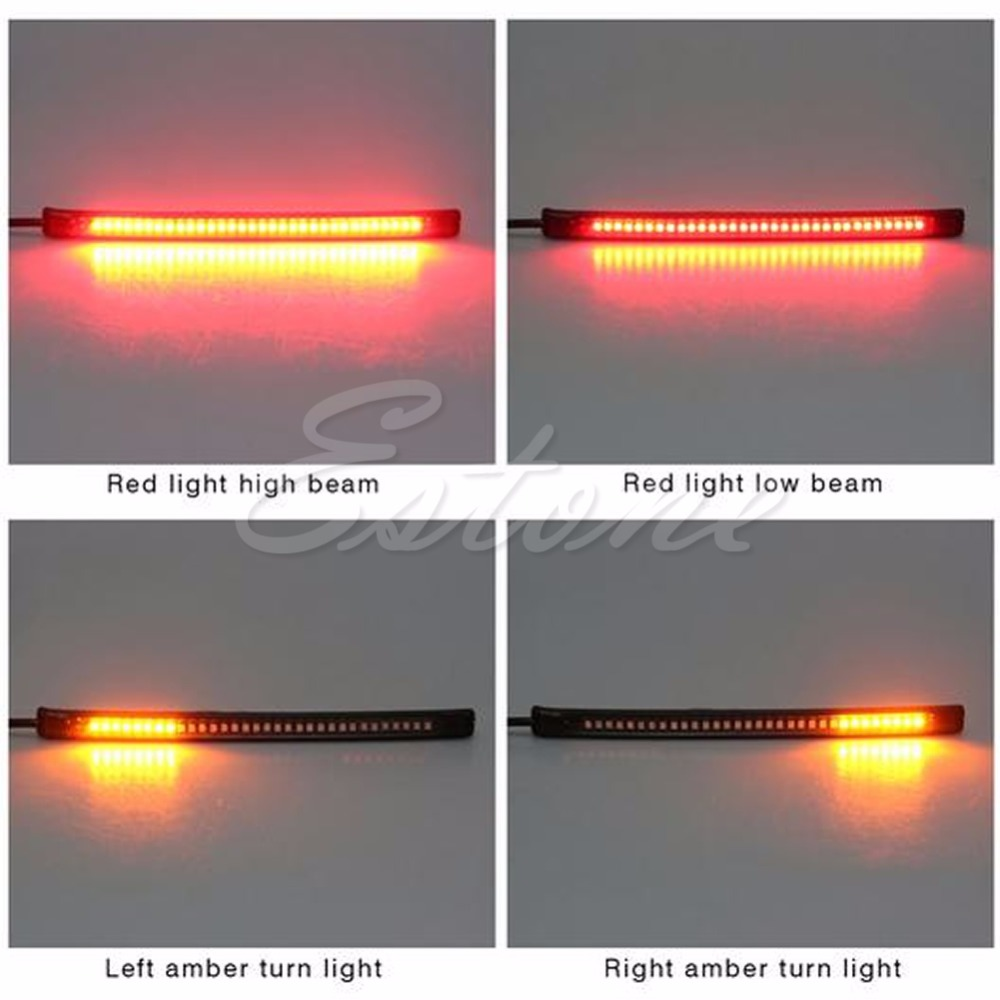 Us 1 84 28 Off 1pc Universal Flexible Motorcycle Light 32 Led Strip Tail Brake Stop Turn Sign Light In Car Headlight Bulbs Led From Automobiles