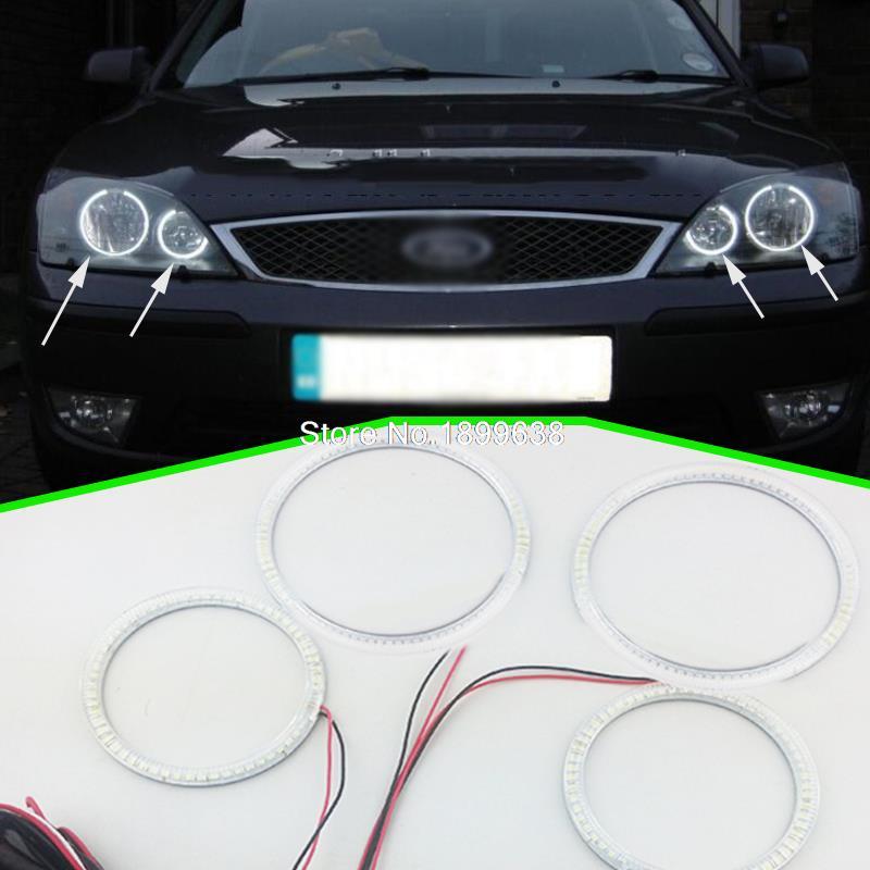 Супер яркий 7000k белый 3528 SMD светодиодные глаза ангела гало кольца стайлинга автомобилей для Форд Мондео МК3 2001 2003 2004 2005 2006 2007