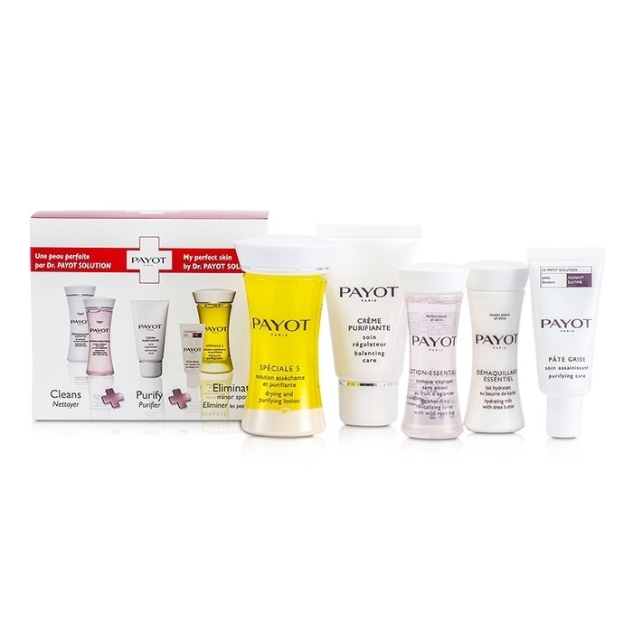 Payot - Travel Set: Speciale 5 + Creme Purifiante + Demaquillant Essentiel + Lotion Essentielle + Pate Grise payot паста очищающая payot dr payot solution pate grise 0065069986 15 мл