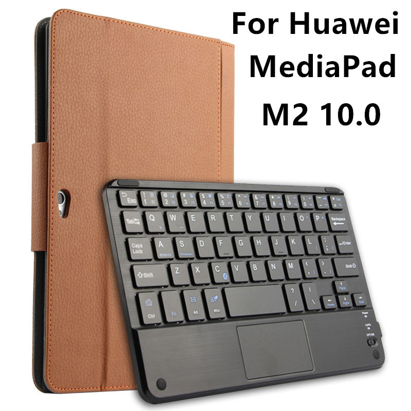 Case For Huawei MediaPad M2 10.0 Protective Wireless Bluetooth keyboard Cover Leather Tablet PC M2-A01L M2-A01W Protector 10 PU jivan touch panel keyboard case for huawei mediapad x2 tablet pc huawei mediapad x2 keyboard cover case