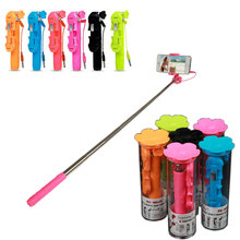 Fashion Portable Extendable Handheld Monopod Multicolor Flower Mini Selfie Stick for Andorid Huawei Xiaomi Samsung Iphone 6 6s 7
